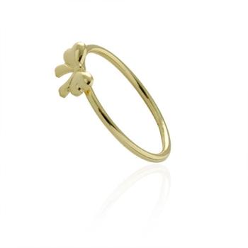 Anel folheado a ouro com adereço em forma de lacinho