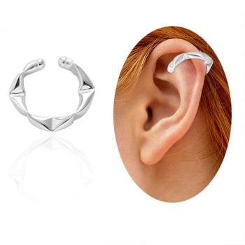 Piercing Fake de orelha folheado a prata - Juliette BBB - tamanho G