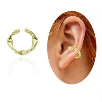 Piercing Fake de orelha folheado a ouro - Juliette BBB - tamanho M