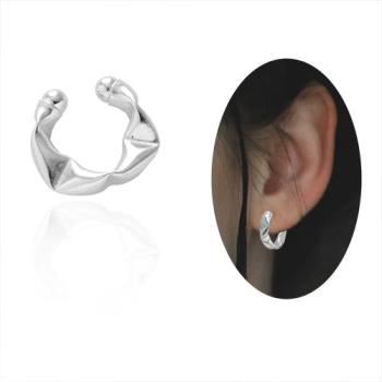 Piercing Fake de orelha folheado a prata - Juliette BBB - tamanho P