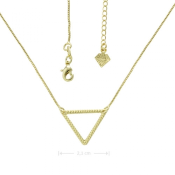 Gargantilha folheada a ouro com adereço em forma de triângulo