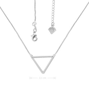 Gargantilha folheada a prata com adereço em forma de triângulo