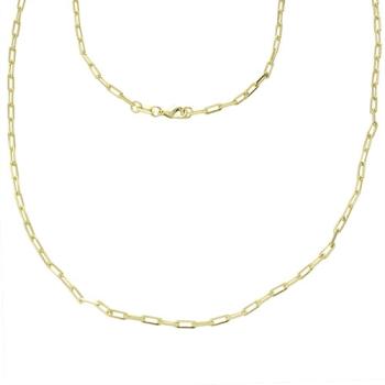 Gargantilha Cartier longa folheada a ouro