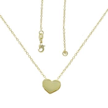 Gargantilha folheada a ouro com pingente em forma de coração liso
