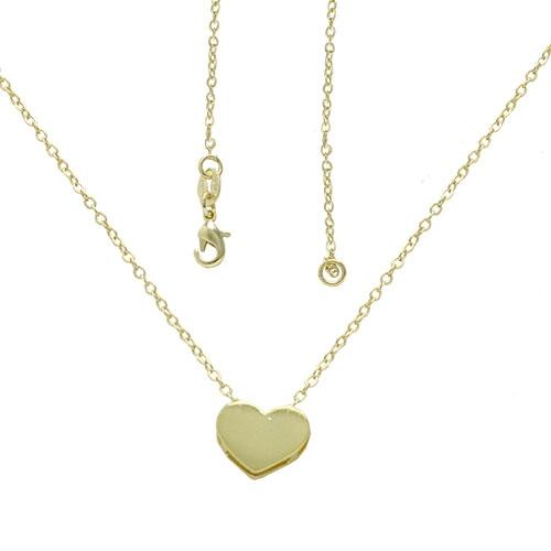 Foto 1 do Produto Gargantilha folheada a ouro com pingente em forma de coração liso
