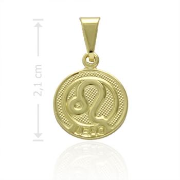 Pingente Zodíaco folheado a ouro com o signo de Leão