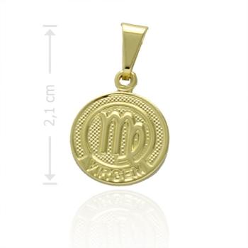 Pingente Zodíaco folheado a ouro com o signo de Virgem