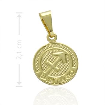 Pingente Zodíaco folheado a ouro com o signo de Sagitário