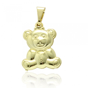 Pingente folheado a ouro em forma de ursinho
