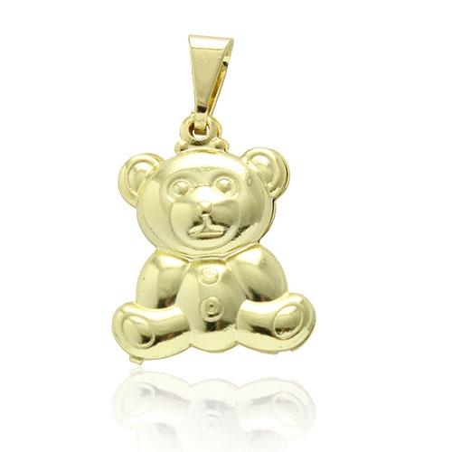 Foto 1 do Produto Pingente folheado a ouro em forma de ursinho