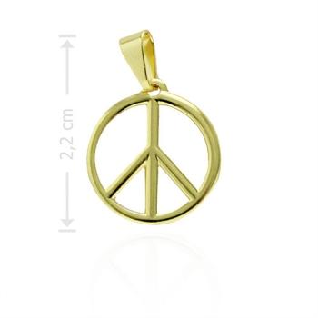 Pingente folheado a ouro com o símbolo da Paz