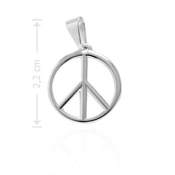 Pingente folheado a prata com o símbolo da Paz