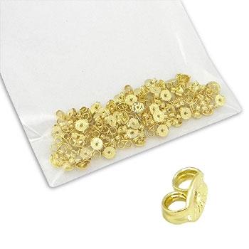 Pacote de tarraxas folheadas a ouro (100 unidades)