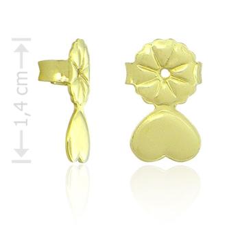 Tarraxa folheada a ouro especial para orelhas rasgadas