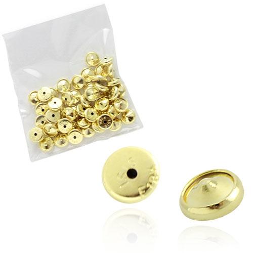 Foto 1 do Produto Pacote de tarraxas baby folheadas a ouro (50 unidades)